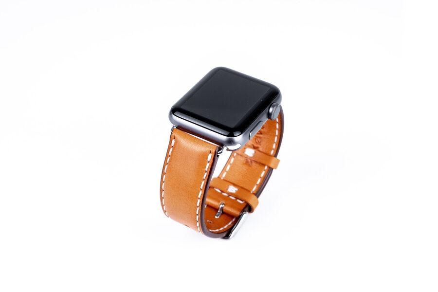 Kožený řemínek / Apple Watch / Cognac
