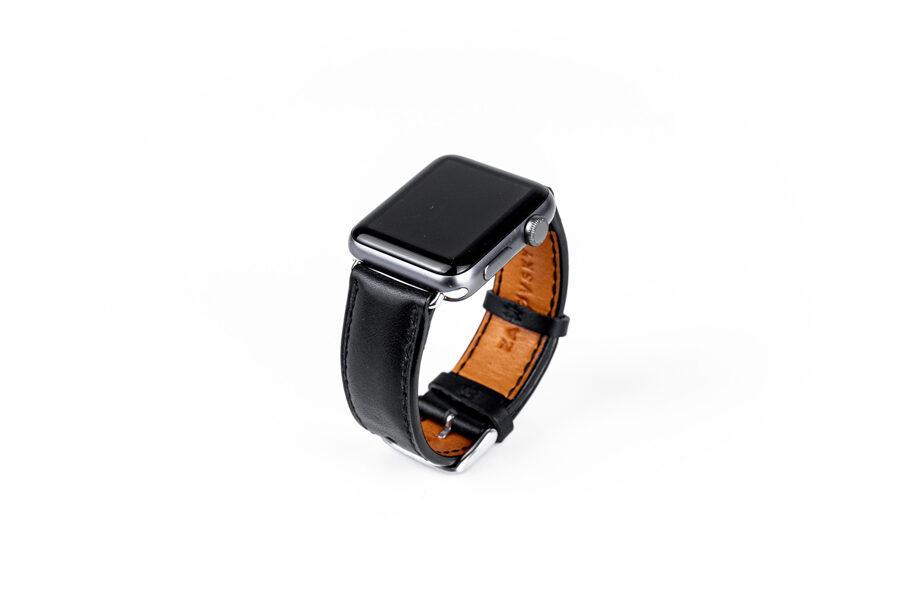 Kožený řemínek / Apple Watch / Black